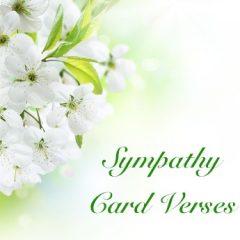 Sympathy Card Verses