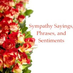 Sympathy Sayings, Phrases, and Sentiments