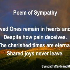 Sympathy Poems