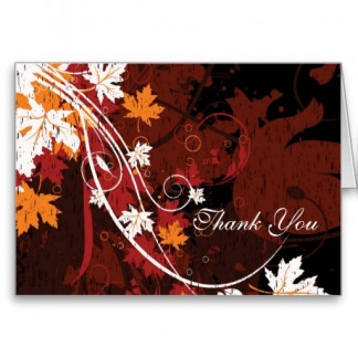 Fall Leaves Thank You Note Cards