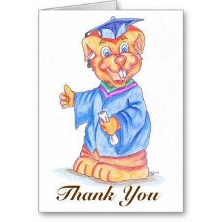 Graduation Thank You Greeting Card