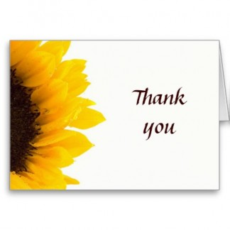 Large Sunflower - Thank You Greeting Card