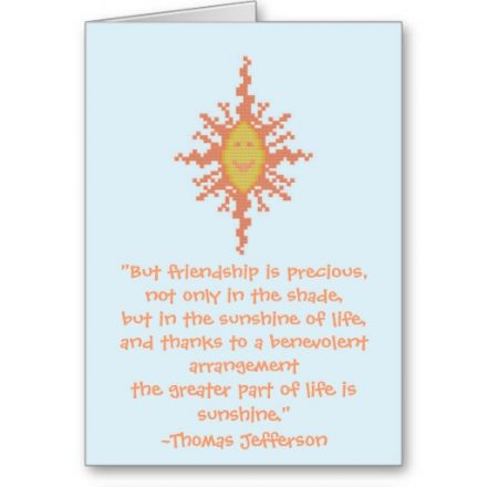 Thomas Jefferson Friendship Quote Card