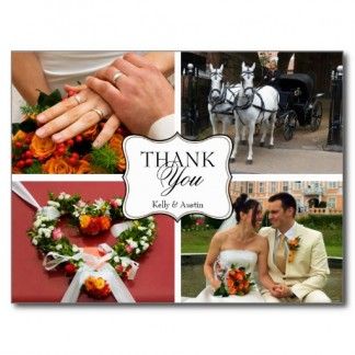 curved_thank_you_4_photo_montage_personal_note_postcard-r26b