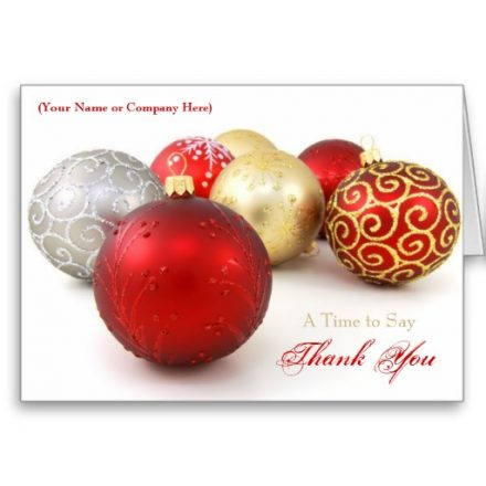 Custom Logo Business Christmas Cards