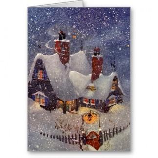 vintage_christmas_thank_you_card