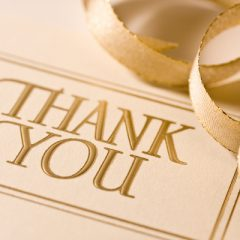 Wedding Thank You Card Wording M-thru-Z