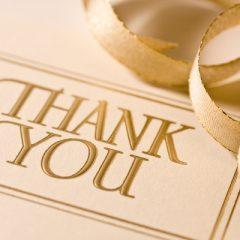 Wedding Thank You Card Wording M-thru-Z