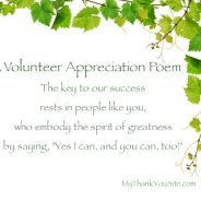 Thank You Volunteers Poems