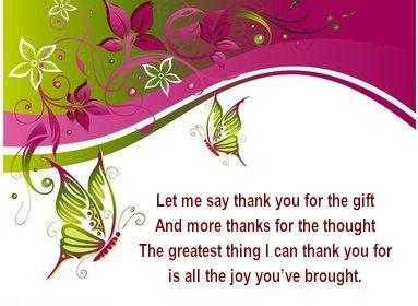 Sample Thank You Verses