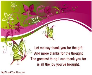 Thank You Poem For A Gift